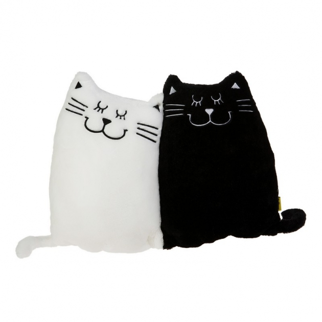Мягкая игрушка подушка котики инь и янь 40*30 см 18 3054