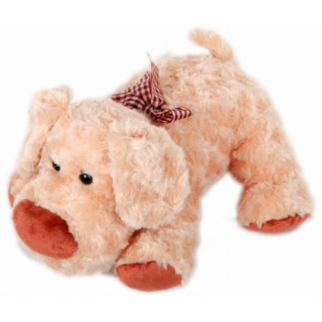 Мягкая игрушка собачка с бантиком на шее 34 см 14 68023a