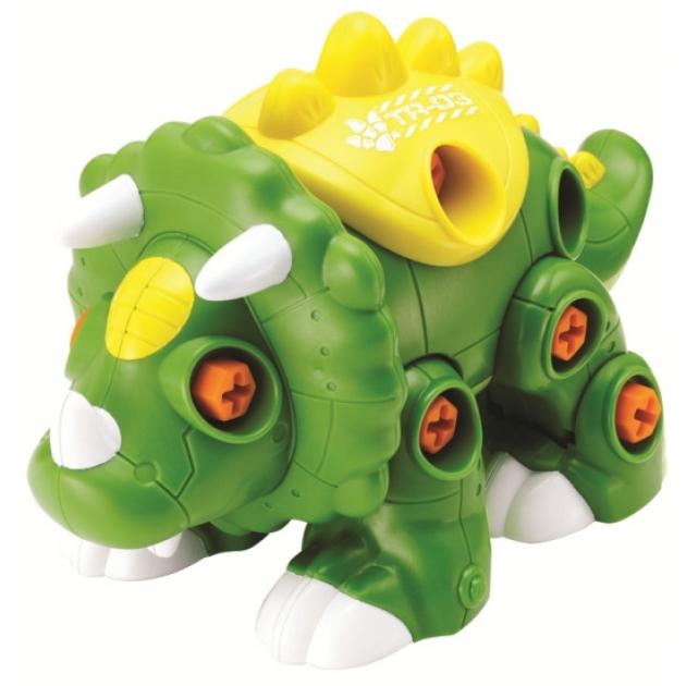 Конструктор Hap-p-Kid Динозавр с шуруповертом (зенелный) 4353T
