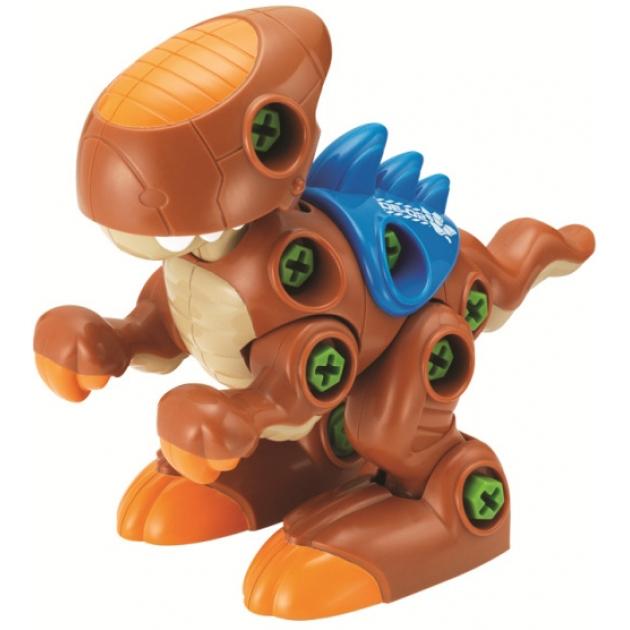 Конструктор Hap-p-Kid Динозавр с шуруповертом (коричневый) 4354T