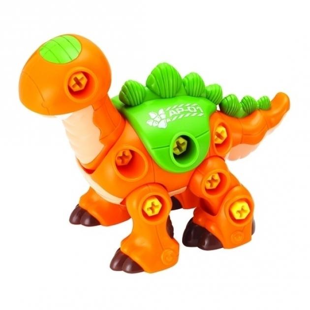 Конструктор Hap-p-Kid Динозавр с шуруповертом (оранжевый) 4352T