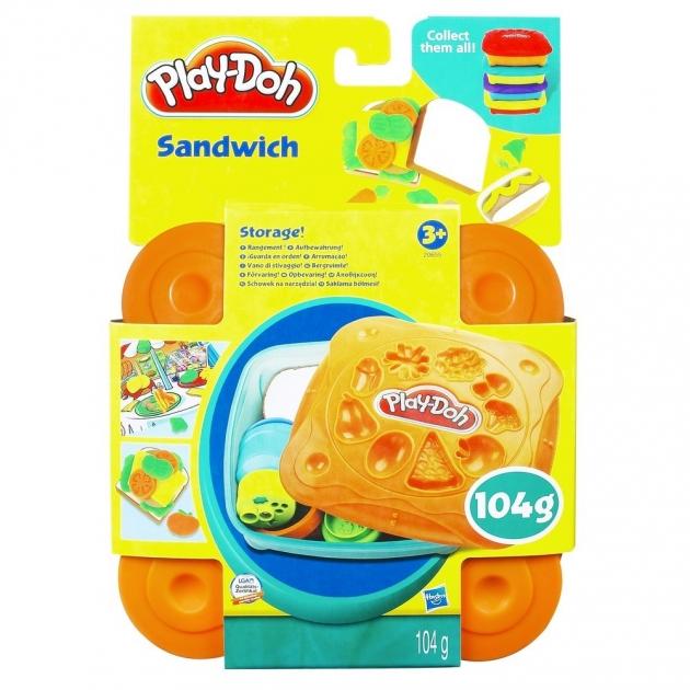 Детский пластилин play doh пластилин набор любимая еда сэндвич 20608
