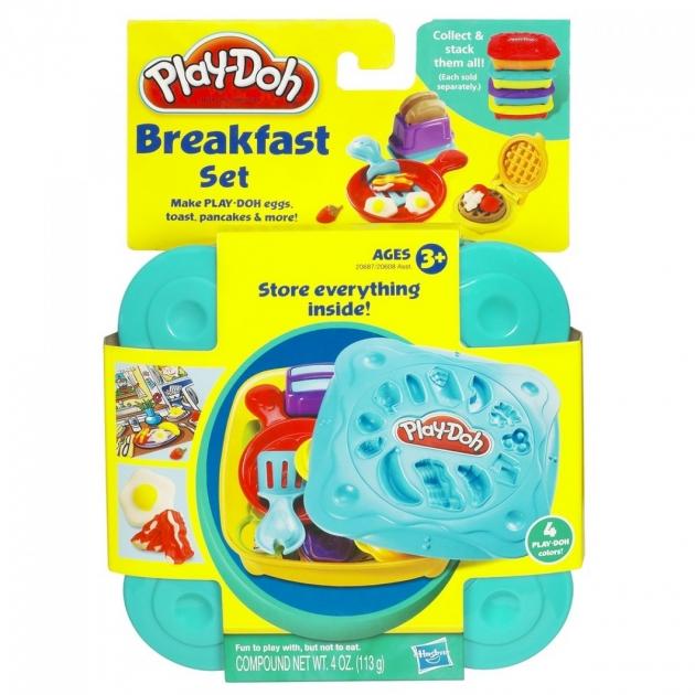 Детский пластилин play doh пластилин набор любимая еда завтрак 20608