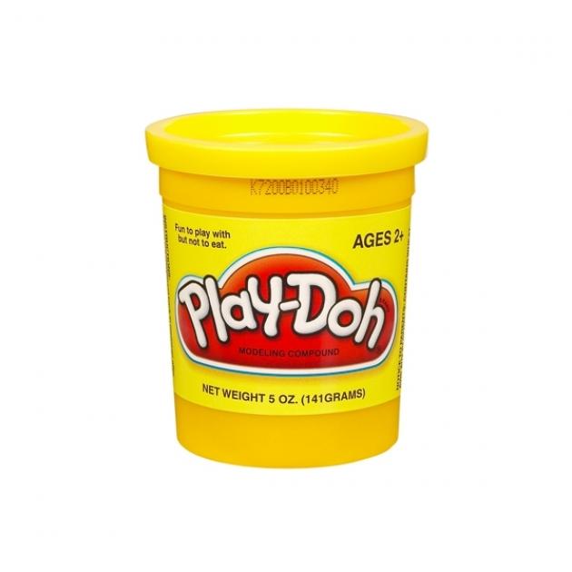 Детский пластилин play doh пластилин в банке желтый hasbro 22002148