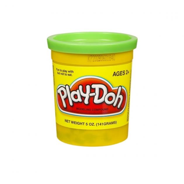 Детский пластилин play doh пластилин в банке зеленый 22002148