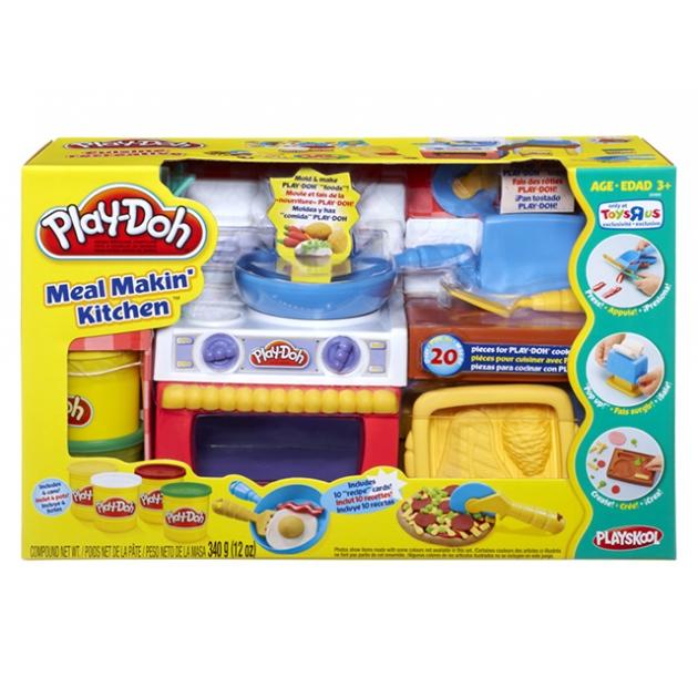 Детский пластилин play doh набор пластилина кухня в коробке 22465