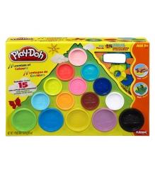 Детский пластилин play doh набор пластилина 15 банок в коробке 22570...