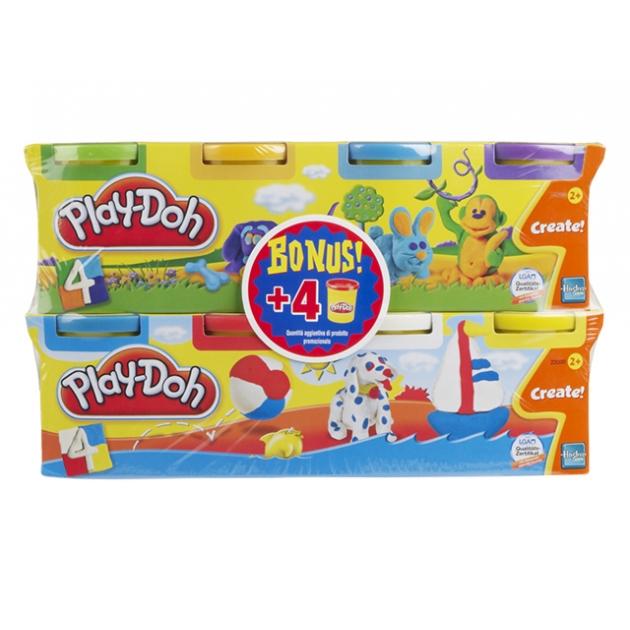 Детский пластилин play doh набор пластилина 8 банок в коробке 23205