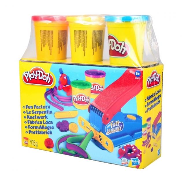 Детский пластилин play doh набор фабрика веселья 33433