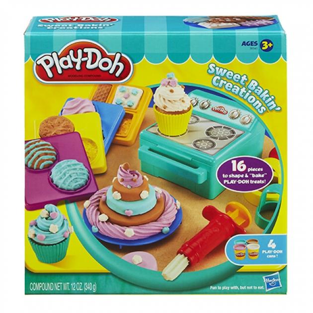 Детский пластилин play doh набор сладости 35541