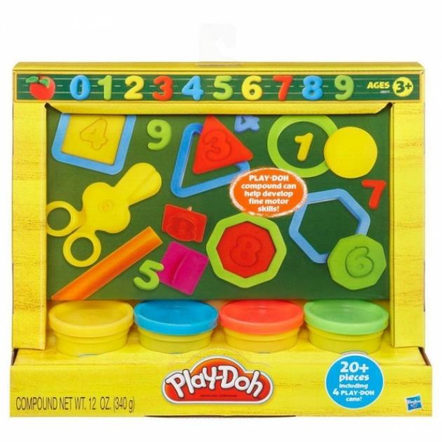 Детский пластилин play doh набор мини учимся считать 49377148
