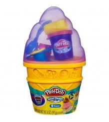Детский пластилин play doh игровой набор контейнер с мороженым a2743e24...