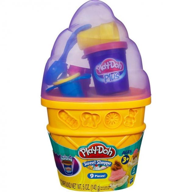 Детский пластилин play doh игровой набор контейнер с мороженым a2743e24