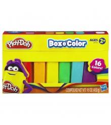 Детский пластилин play doh набор пластилина 16 цветов a2744