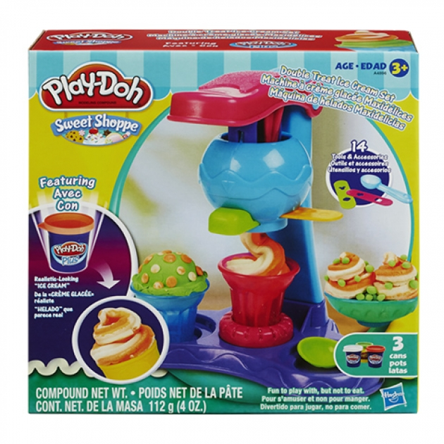 Детский пластилин play doh набор пластилина фабрика мороженого в коробке a4896