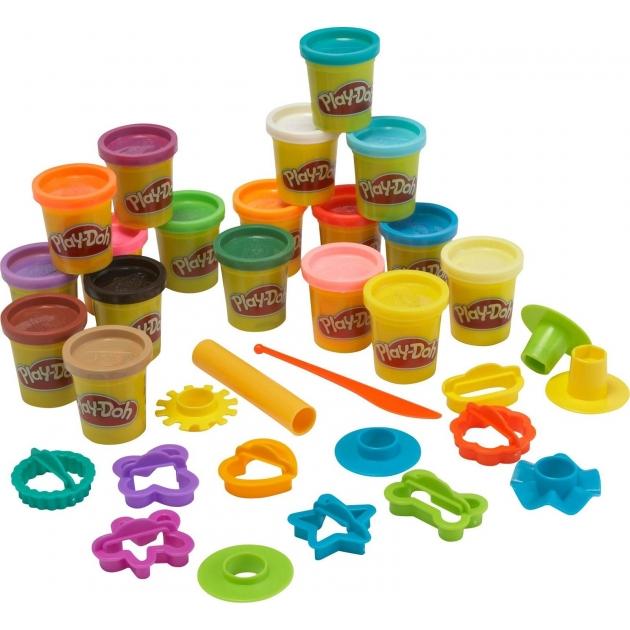 Детский пластилин play doh набор пластилина 18 банок в коробке a4897