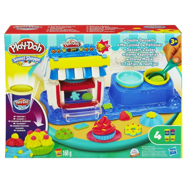 Детский пластилин play doh набор пластилина двойные десерты a50134e24
