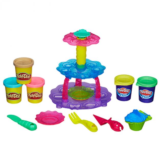 Детский пластилин play doh игровой набор башня из кексов a5144e24