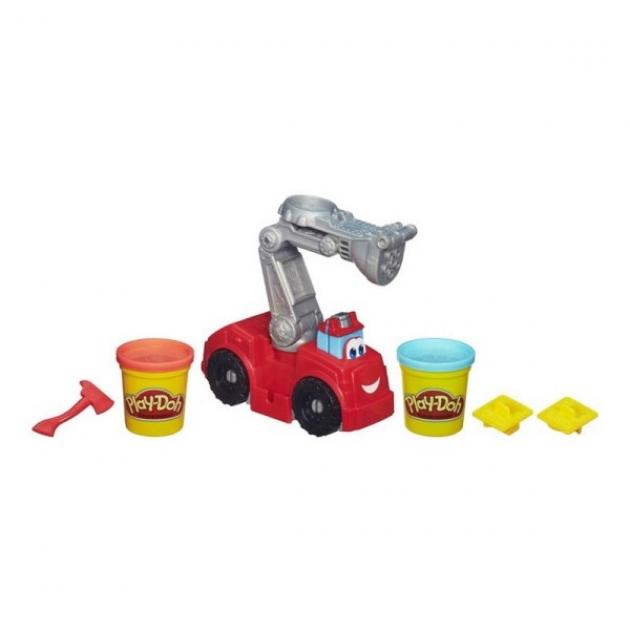 Детский пластилин play doh набор игровой бумер: пожарная машина a5418e24