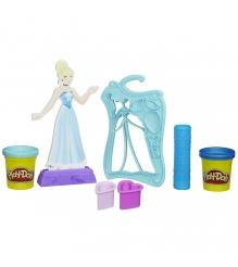Детский пластилин play doh набор игровой дизайнер платьев принцесс дисней золушк...