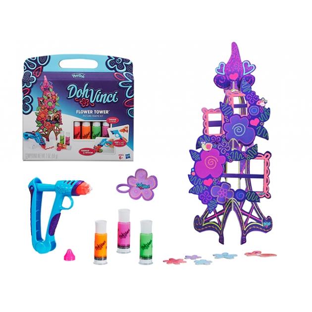 Набор для девочки для творчества фоторамка цветочная башня play doh a7191