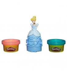 Детский пластилин play doh набор принцессы дисней золушка a7402