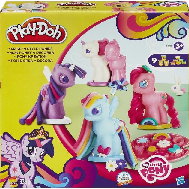 Игровой набор пластилина Hasbro Play Doh Создай любимую Пони B0009