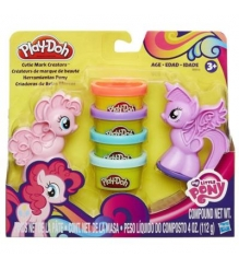 Детский пластилин play doh набор пластилина пони: знаки отличия b0010...