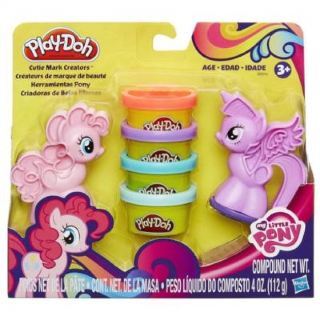 Детский пластилин play doh набор пластилина пони: знаки отличия b0010