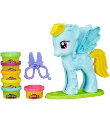 Игровой набор пластилина Hasbro Play Doh Стильный салон Рэйнбоу Дэш B0011...