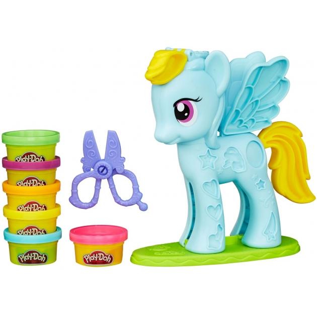 Игровой набор пластилина Hasbro Play Doh Стильный салон Рэйнбоу Дэш B0011