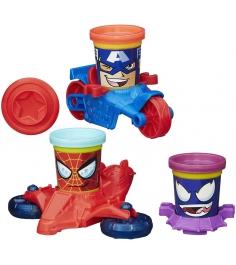 Игровой набор пластилина Hasbro Play Doh Транспортные средства героев Марвел B06...