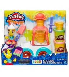 Игровой набор пластилина Hasbro Play Doh Грузовичок с мороженым B3417...