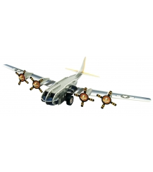 3D Пазл IQ Puzzle Бомбардировщик B-17 инерционный