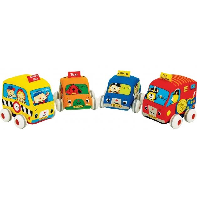 Машинки мягкие с инерционным механизмом 4 шт K's kids (Арт. KA459)