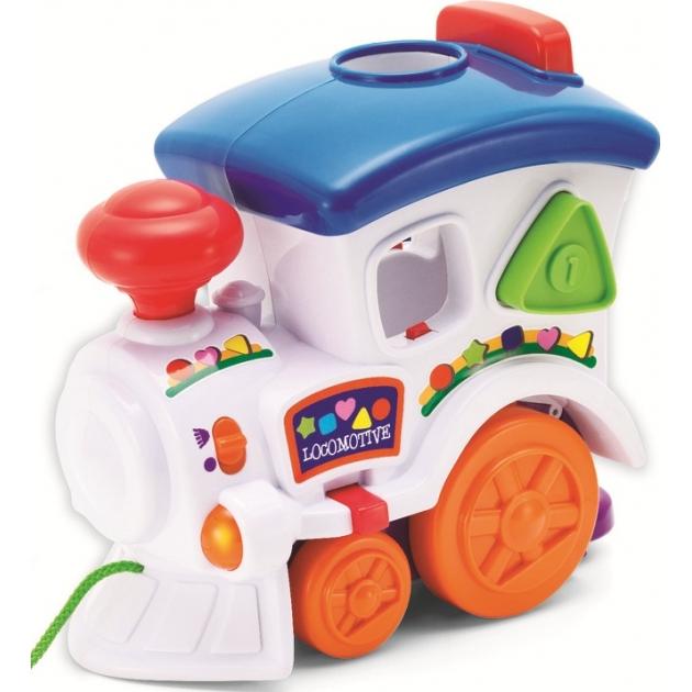 Музыкальная игрушка Keenway Веселый паровозик с пазлами 31537
