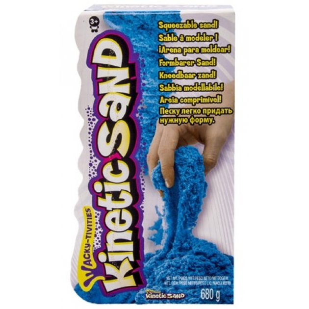 Песок для лепки Kinetic sand яркий цвет 680 гр 71409