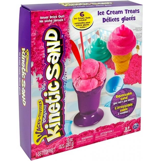Песок для лепки Kinetic Sand Мороженое 71417-ice