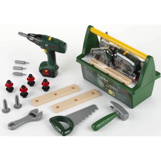 Набор инструментов Klein с дрелью в ящике Bosch  8429