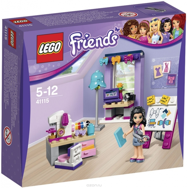 Lego Friends творческая мастерская эммы 41115