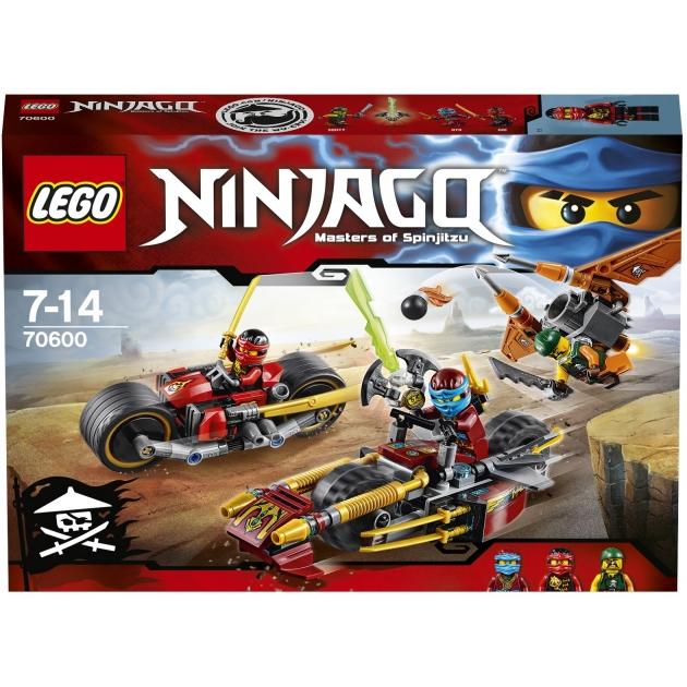 Lego Ninjago Погоня на мотоциклах 70600
