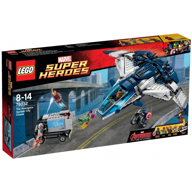 Lego Super Heroes Городская погоня на Квинджете 76032