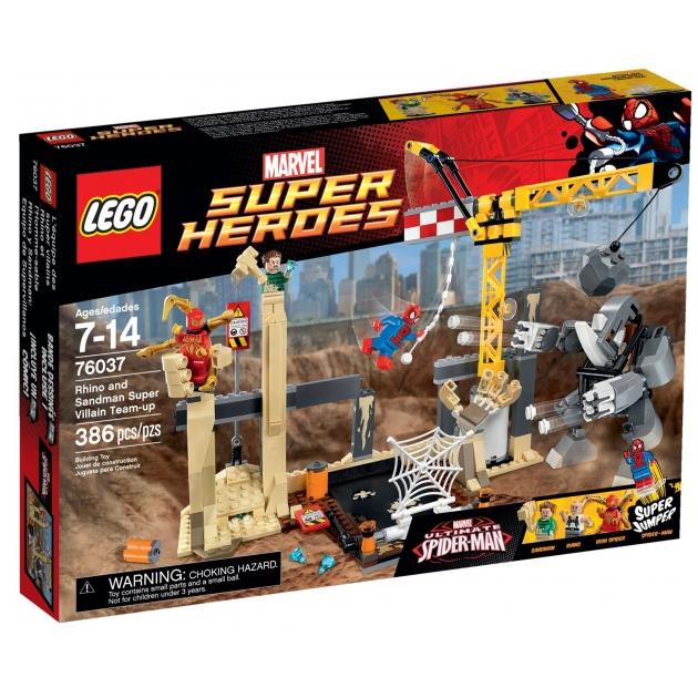 Lego Super Heroes Носорог и Песочный человек против Супергероев 76037