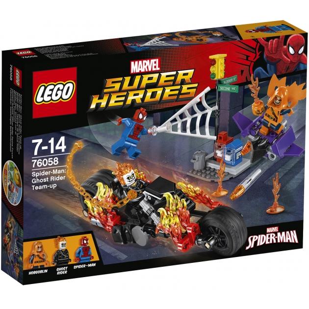 Lego Super Heroes Человек паук союз с Призрачным гонщиком 76058