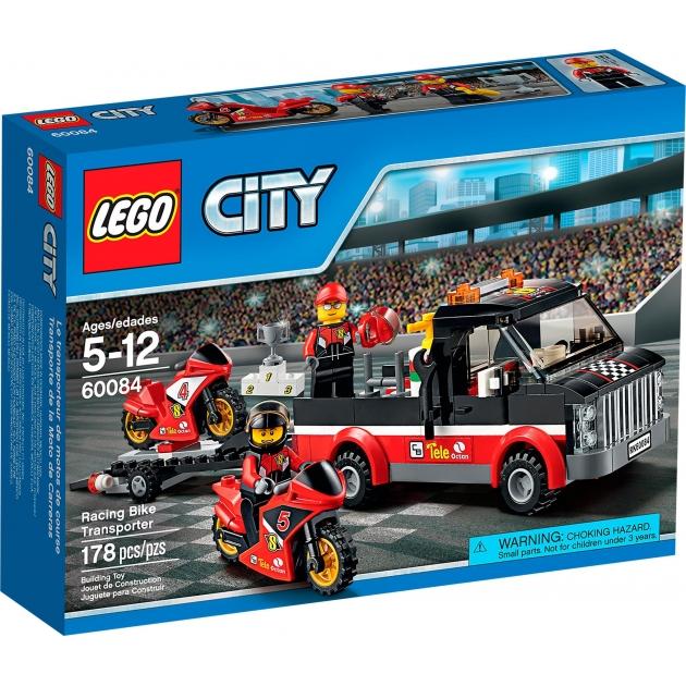 Lego City Перевозчик гоночных мотоциклов 60084