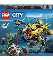 Lego City Глубоководная подводная лодка 60092