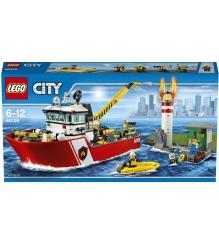 Lego City Пожарный катер 60109
