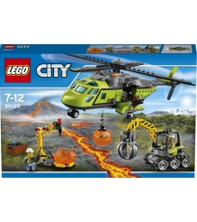 Lego City Грузовой вертолет исследователей вулканов 60123