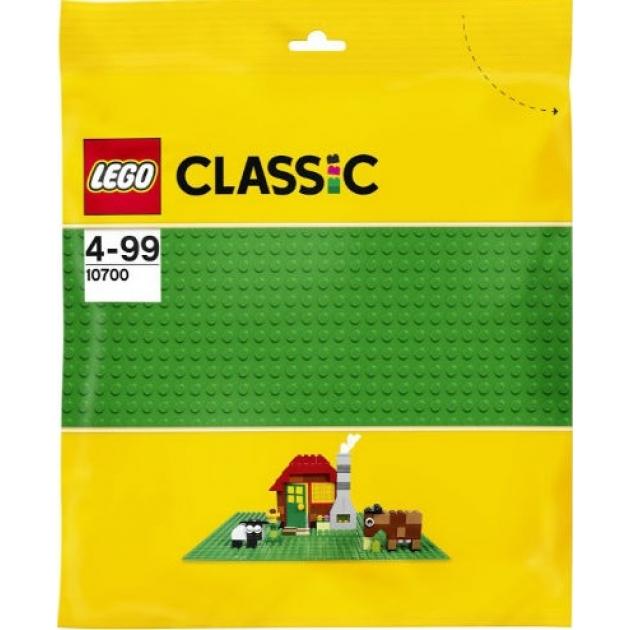 Lego Classic Строительная пластина зеленого цвета 10700