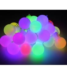 Новогодняя гирлянда Luazon Большие шарики 5 см Метраж 6 м LED переливается мульт...